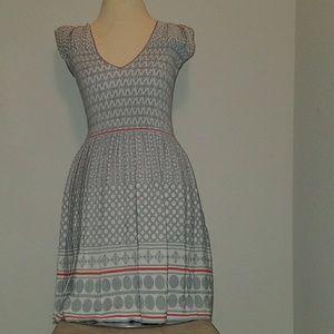 Grey geometrical dress